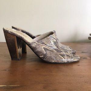 Sesto Meucci snakeskin heels